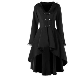 Tapered Back Lace Up Coat