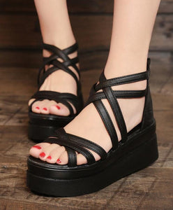 Platform High Heel Wedge Sandals