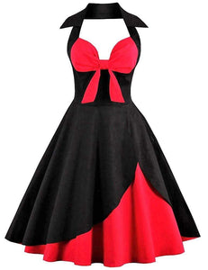 Retro Pin Up Halter Dress