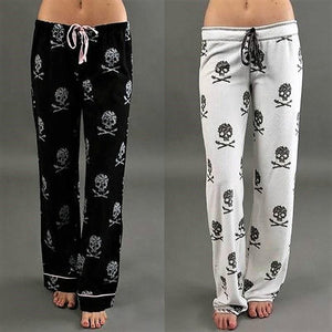 Skull Pajama Low Waist Pants