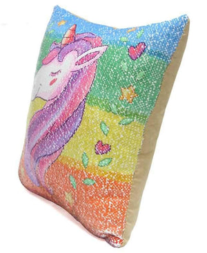 Sequins Unicorn Cushion Cover