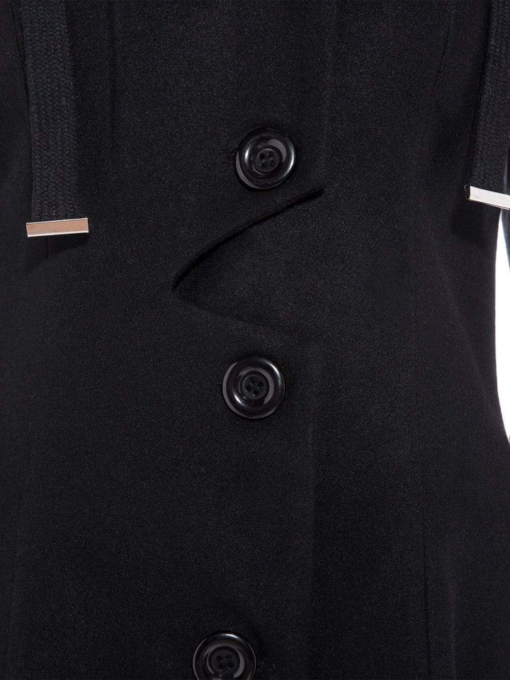 Elegant Single-Breasted Black Coat