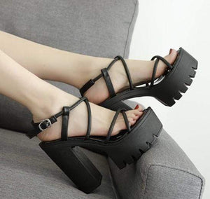 Thick Open Toe Platform Sandals