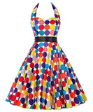 Retro Halter Flare Dress (bubble)