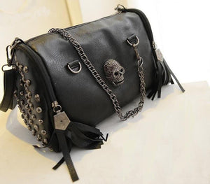 Dark Style Tassel Skull Chain bag