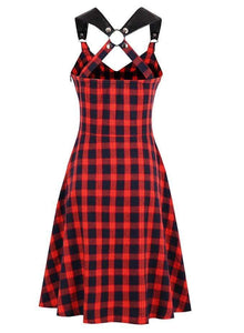 Vintage Plaid A-Line Dresses