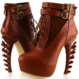 T-Rex Lace Up High Heels