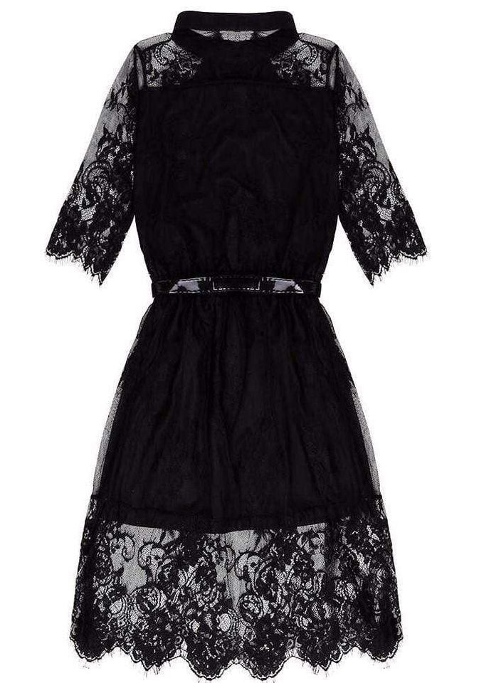 Gothic Lace Evening Dress