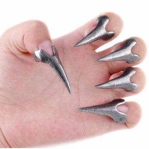 Silver and Bronze Fingertip Talon Rings