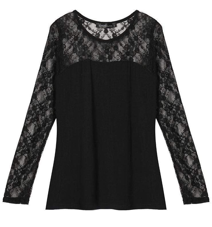Gothic Spring Lace Long Sleeve Blouse