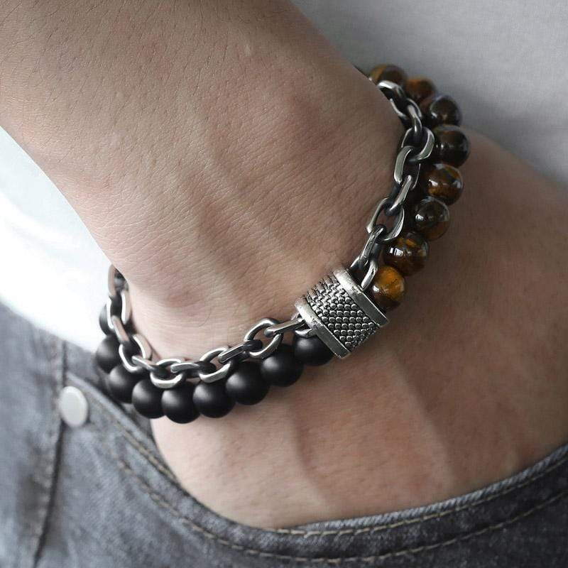 Men Natural Stone Beaded Bracelets