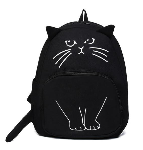 Aequeen Black Cat Backpack