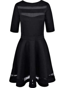 Dark Style Black Elegant Dress