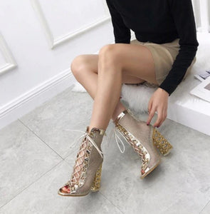 Gold Gladiator Bling Pumps