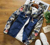 Casual Floral Hooded Jackets