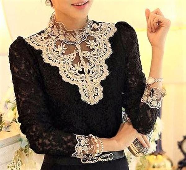 Lace Floral Slim Fit Top