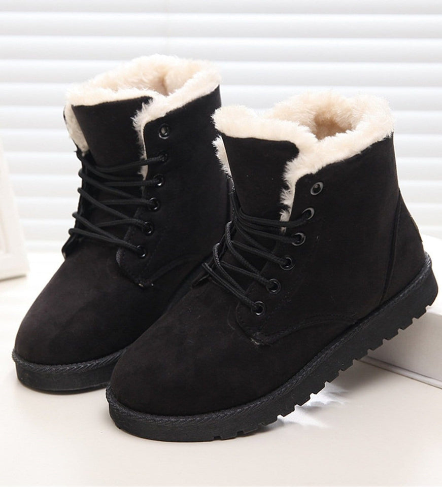 Women's Plush Snow Boots