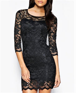 Elegant Floral Lace Dress