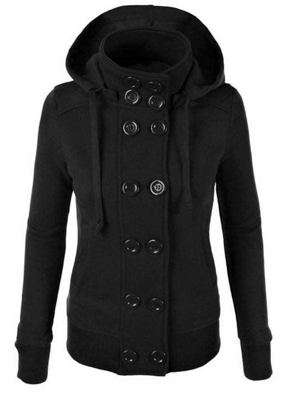 Double Breasted Hooded Coat
