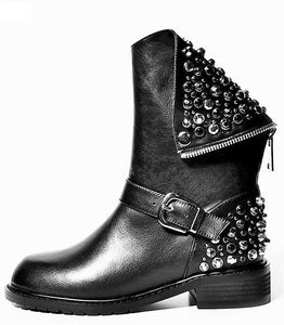 Black Riveted Boots
