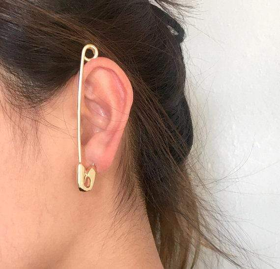 Safety Pin Ear Cuff