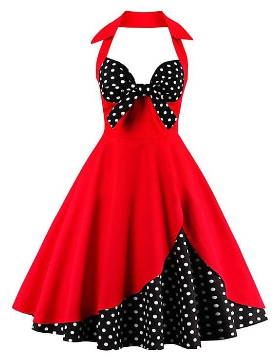 Retro 50's Style Swing Dress