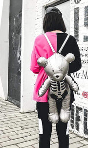 Cute Skeleton Bear Backpack