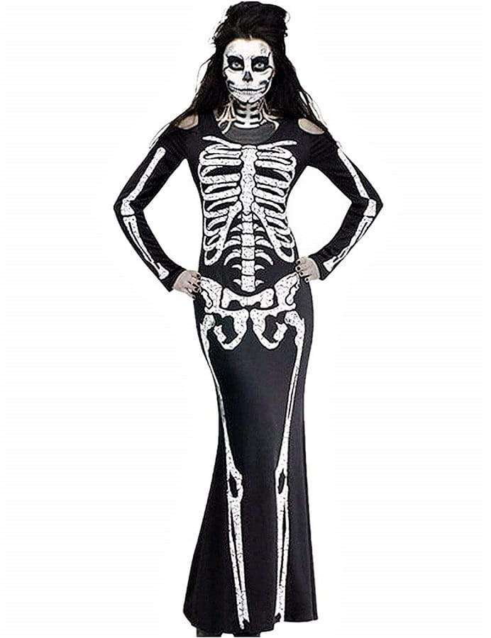 Fancy Long Skeleton Dress