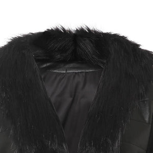Lux Hem Faux Fur Collar Coat