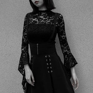 Gothic (2) Piece Overall Bodysuit