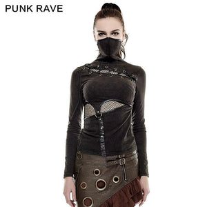 PUNK RAVE High Collar Mask Top