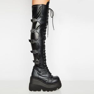 Thigh High Cosplay Platform Boots
