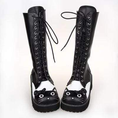 Cat Platform High Heel Boots