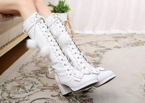 Japanese Lace Up Sweet High Boots