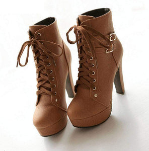 Elegant High Heel Ankle Boots