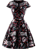 Elegant Retro Skull Dress