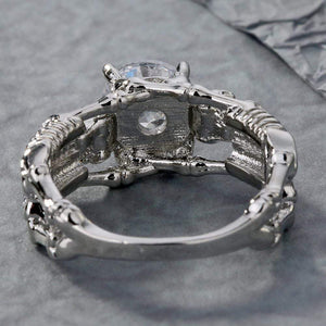 Elegant Skeleton CZ Ring