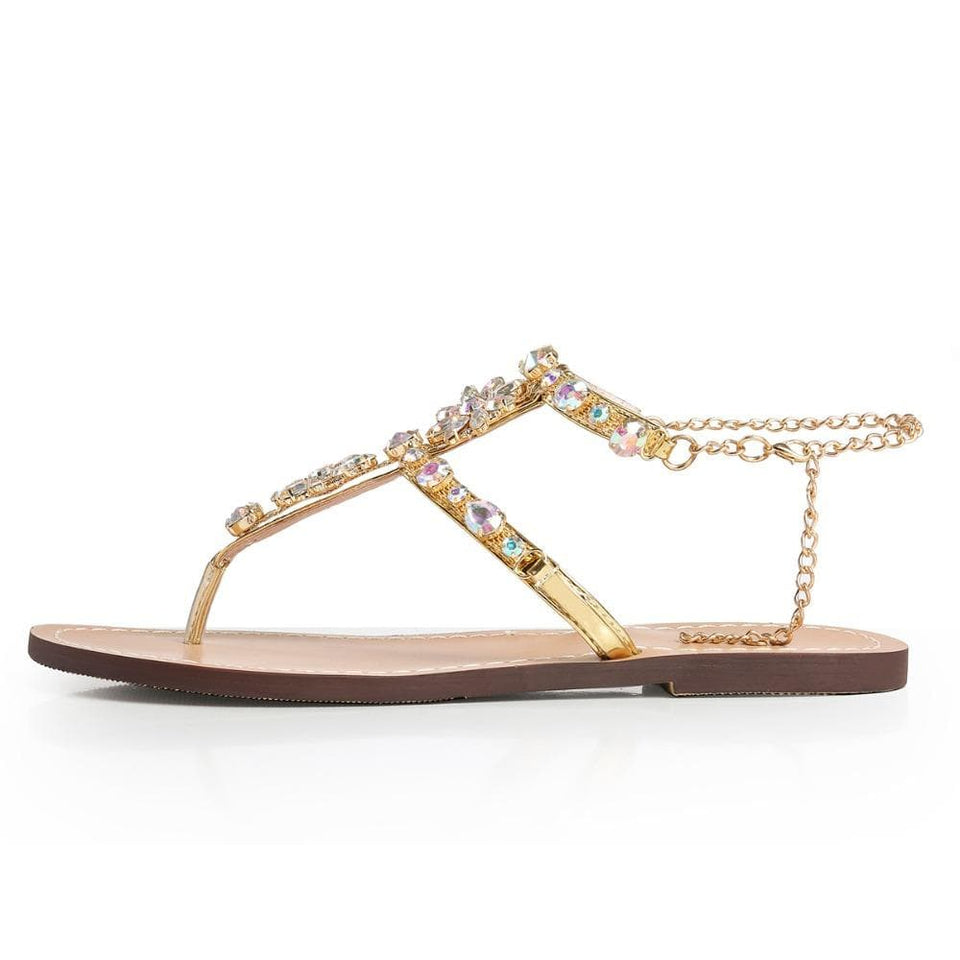 Rhinestones Chain Sandals