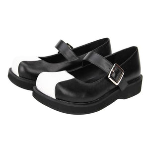 CLassic Black and White Mary Janes