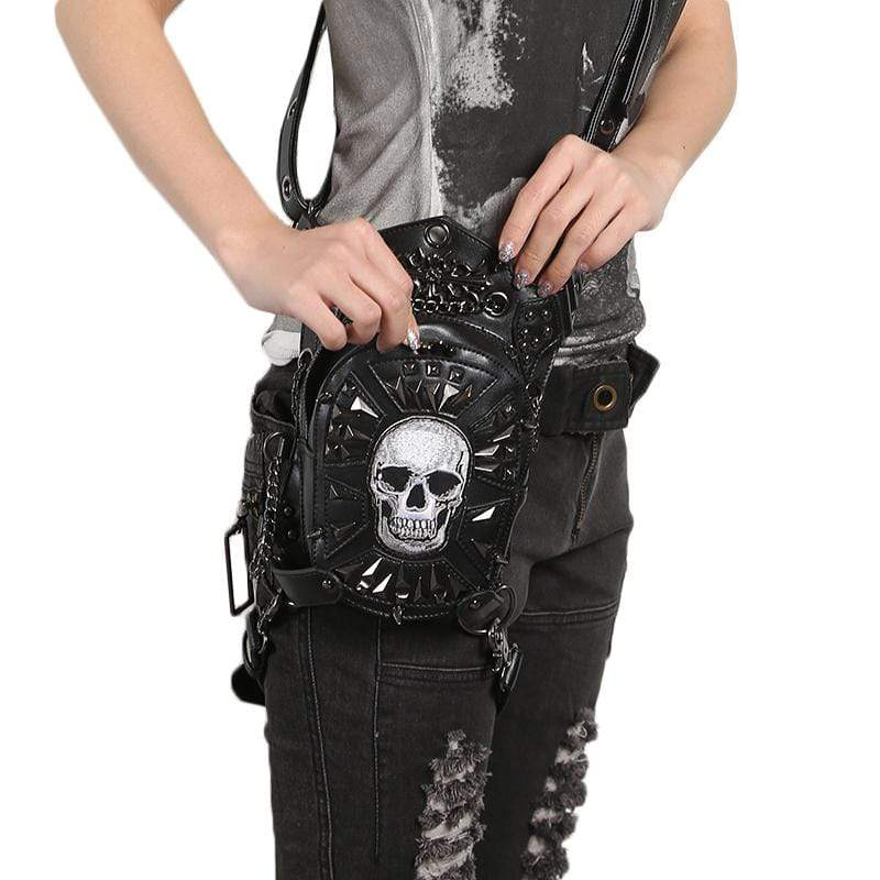 Waist Skull Messenger Bag