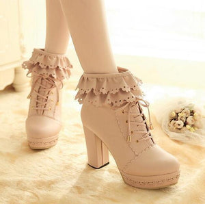 Lolita Lace Women Ankle Boots
