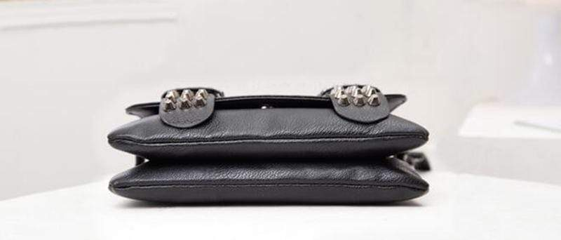 Rivet Leather Messenger Bag