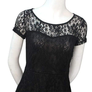 Dark Rose Lace Dress