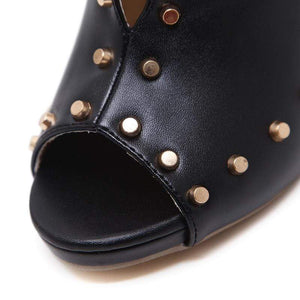 Rivet Buckle High Heels