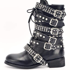 Premium Lady Punk Warrior Boots