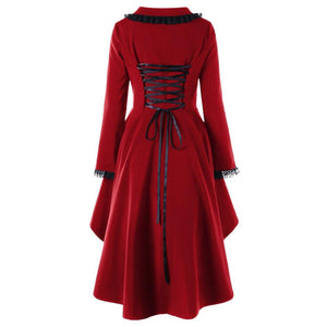 Colored Evil Girl Hooded Overcoat