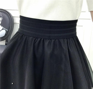 Black Umbrella Skirt