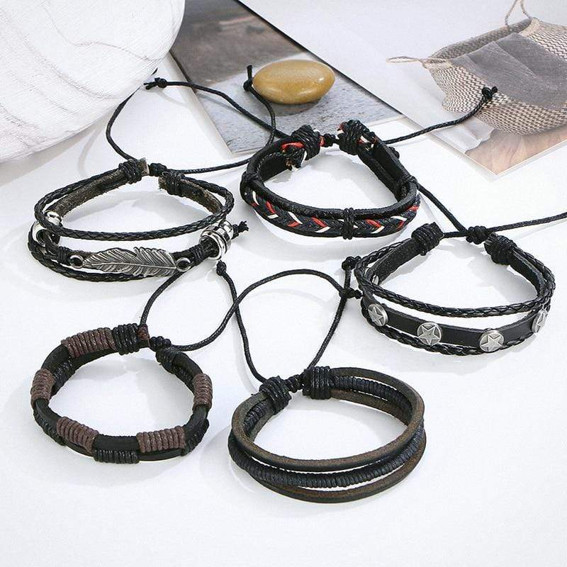 Men's Vintage Multilayer Leather Bracelet