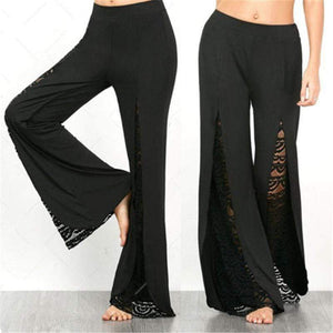 High Waist Side Split Casual Pants