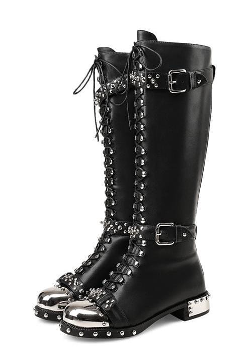 High Chunky Army Combat Boots